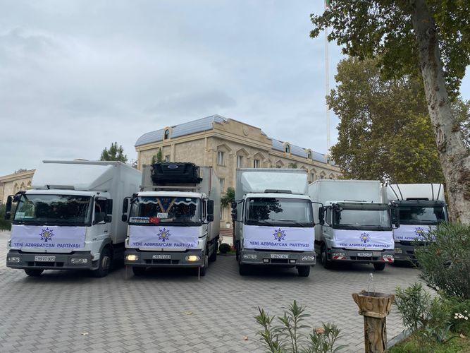 YAP tərəfindən Bərdəyə humanitar yardım çatdırılıb