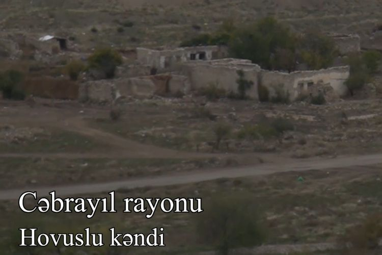 Video coverage of the liberated from occupation Khojik village of Gubadly region and Hovuslu village of Jabrayil region - VIDEO