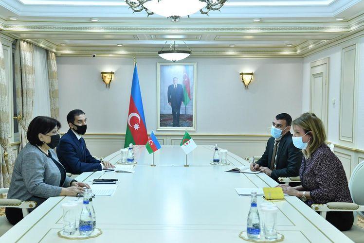 Сахиба Гафарова встретилась с послом Алжира в нашей стране