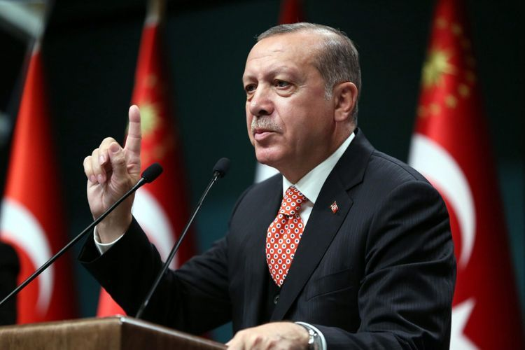 """Erdogan: """"Due to our support for Azerbaijan, Canada has imposed an embargo on the cameras we use for our UAVs, and we have used our own cameras"""""""