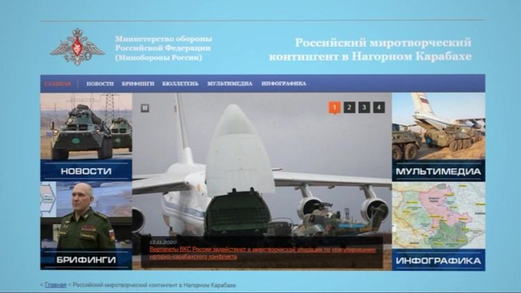 На сайте Минобороны РФ открылся раздел о российских миротворцах в Карабахе