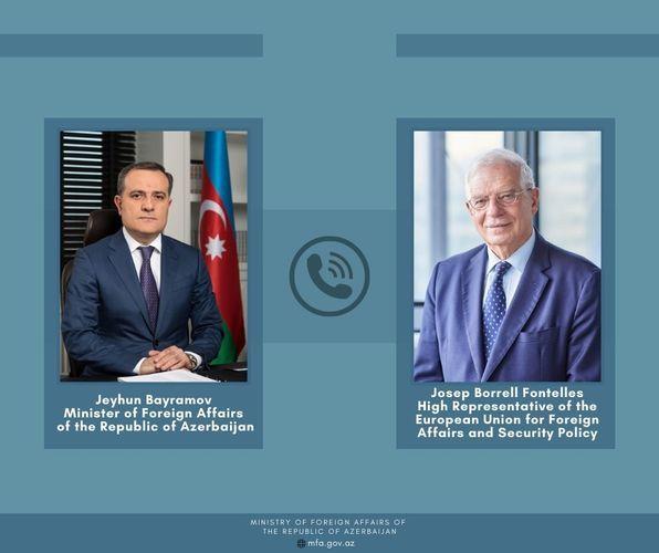 Состоялся телефонный разговор между Джейхуном Байрамовым и верховным представителем ЕС по вопросам внешней политики и безопасности