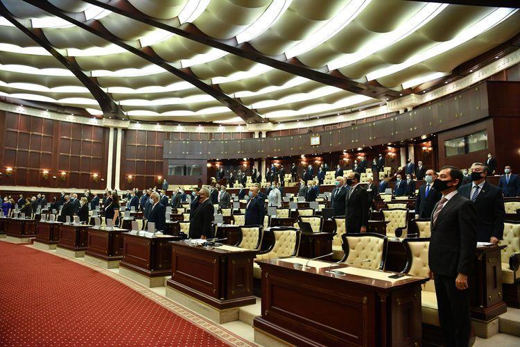 Azerbaijani Parliament commemorates souls of martyrs