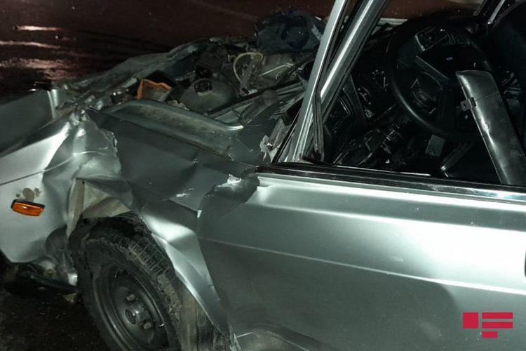 В Шамкире столкнулись два автомобиля, есть погибший и пострадавшие
