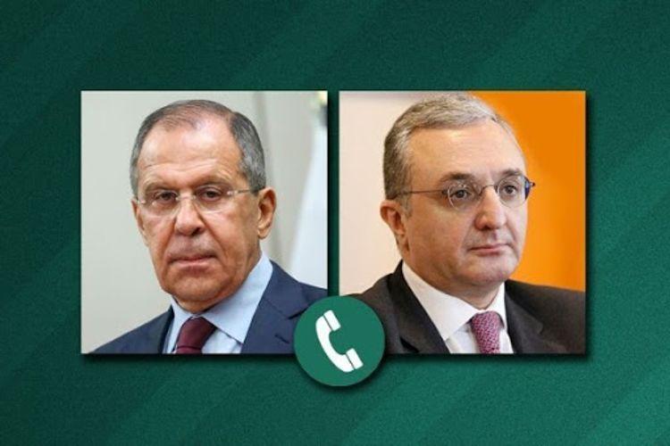 Главы МИД РФ и Армении обсудили реализацию соглашения по Карабаху