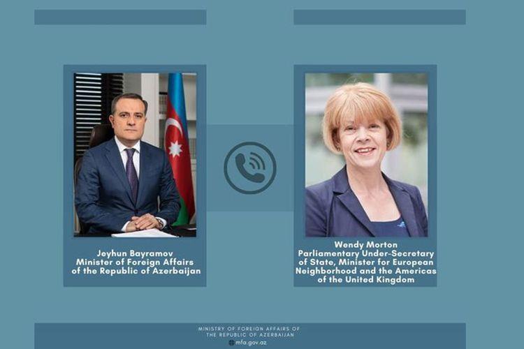 Azerbaijani FM and British State Minister hold phone conversation