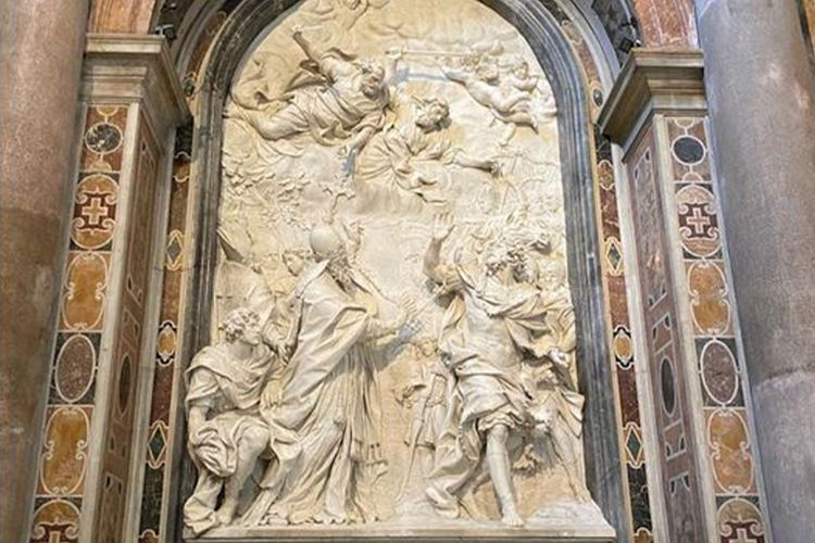 "Heydar Aliyev Foundation restores bas-relief of ""the meeting between Pope 1st Leo and Hun Emperor Attila"" in St. Peter's Basilica in Vatican"