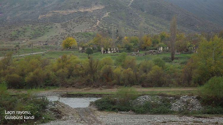 Видеорепортаж из освобожденного от оккупации села Гюлябюрд Лачинского района