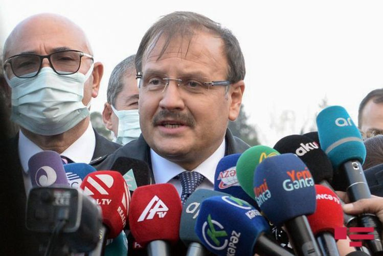 """Hakan Cavusoglu: """"Crimes committed by Armenia against civilians are crimes against humanity"""""""