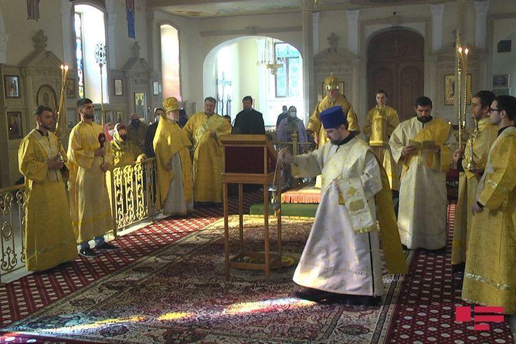 В Русской православной церкви в Баку состоялась «Благодарственная литургия по случаю победы» - ФОТО - ВИДЕО