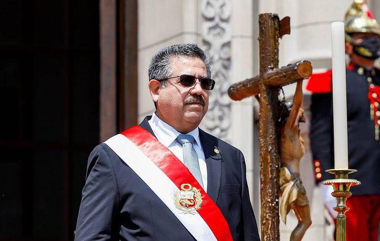 Yeni seçilmiş Peru Prezidenti Merino istefa verib