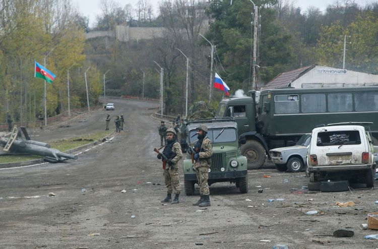 Russian peacekeepers' outposts, headquarters deployed to Karabakh