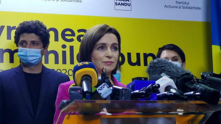 Санду заявила о победе на выборах президента Молдовы