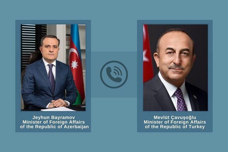 Jeyhun Bayramov and Movlud Cavusoglu had a telephone conversation
