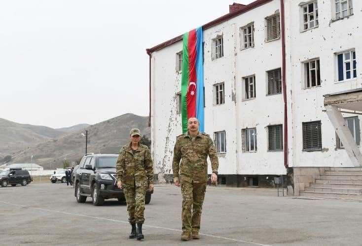 Президент Азербайджана и первая леди посетили освобожденный Джабраильский район - ВИДЕО