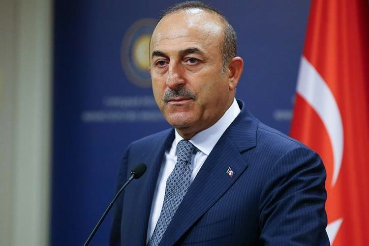 """Turkish FM: """"Azerbaijani flag raised in Baku in 1988, today is waving in liberated lands from occupation"""""""