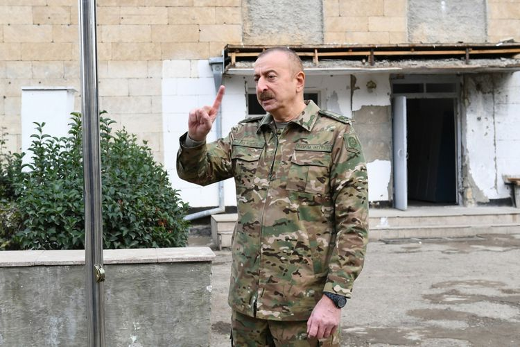 """Azerbaijani President: """"After the liberation of Shusha, the enemy realized that there was completely no point in resisting us"""""""