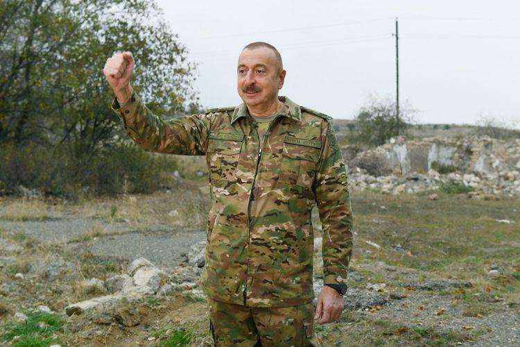 Глава государства: Спустя 8 дней после дня Победы, через 6 дней после капитуляции Армении начато строительство автодороги в Шушу