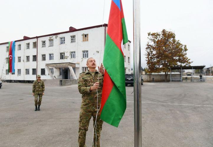 Президент: Флаг Азербайджана будет вечно развеваться на освобожденных от оккупации землях