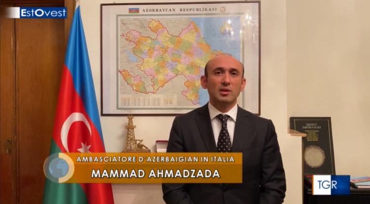 "Azerbaijani ambassador to Italy: ""Our problem is not the Armenian community of Nagorno-Karabakh"""