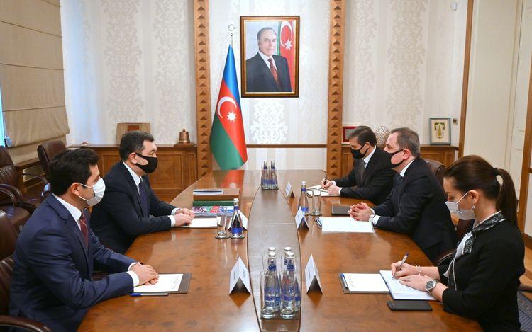 Ceyhun Bayramov Beynəlxalq Türk Akademiyasının prezidenti ilə görüşüb