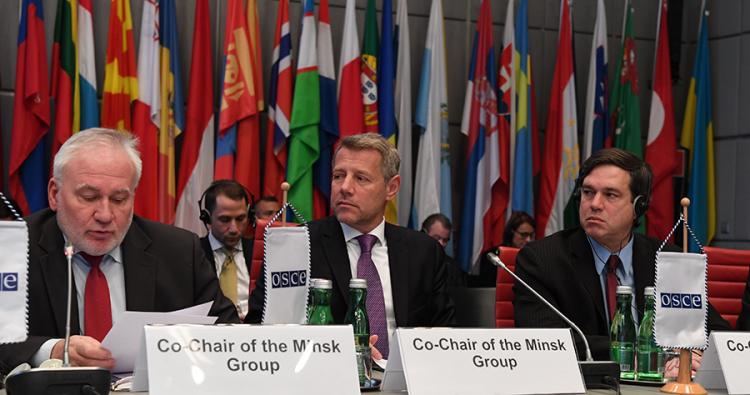 Сопредседатели провели консультации в МИД России, встретились с представителями Минобороны