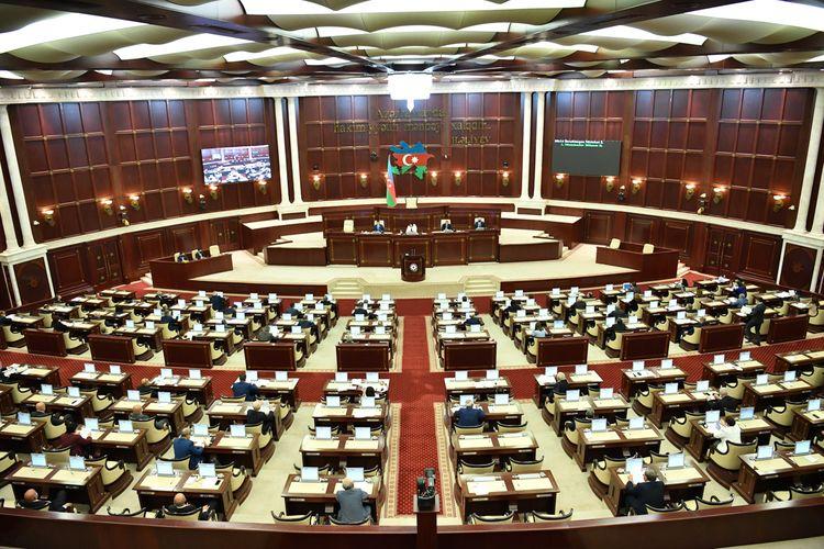 Milli Məclisin bu gün keçiriləcək iclasının gündəliyinə dəyişiklik edilib