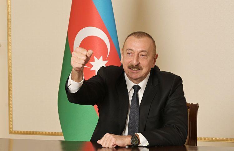 """Prezident İlham Əliyev: """"Düşmənin başını elə əzdik ki, onu əbədi yadda saxlayacaq"""""""