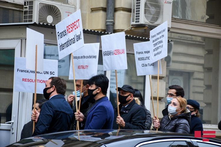 Picket held in front of French Embassy