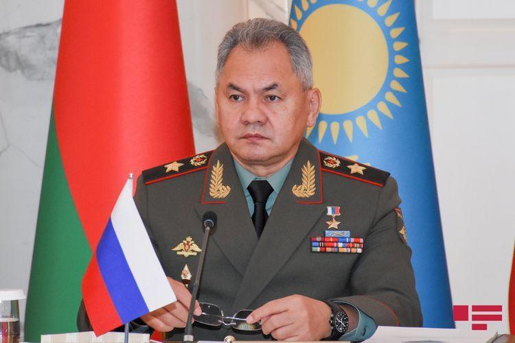 Sergey Shoigu arrives in Baku