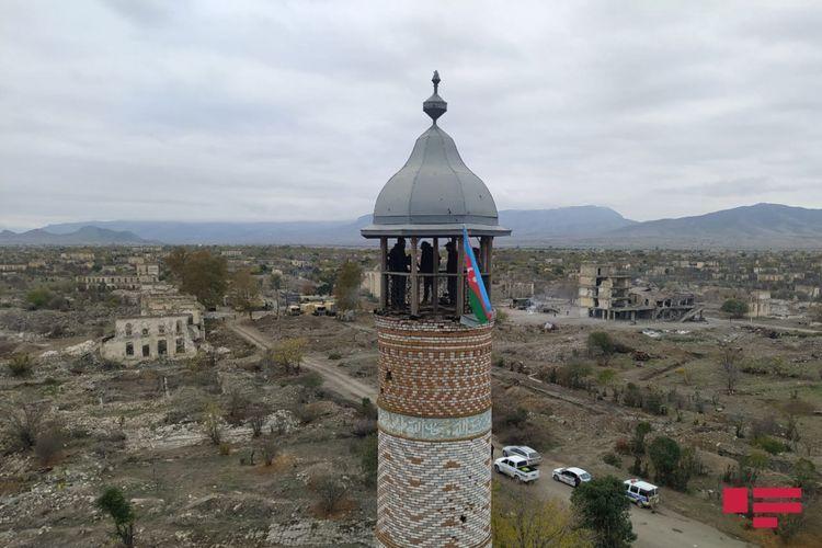 Al Jaazeera prepares reportage from Agdam - VIDEO