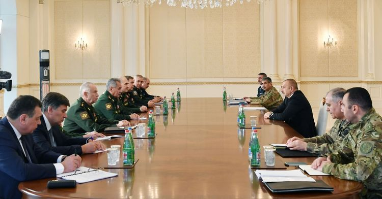 President Ilham Aliyev  receives delegation led by the Russian Defense Minister - UPDATED