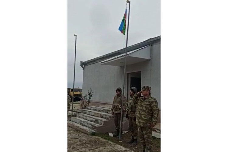 В селе Шелли Агдамского района поднят флаг Азербайджана