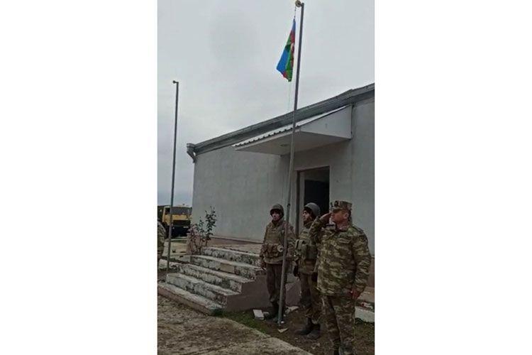 Azerbaijani flag hoisted in the Shelli village of Aghdam