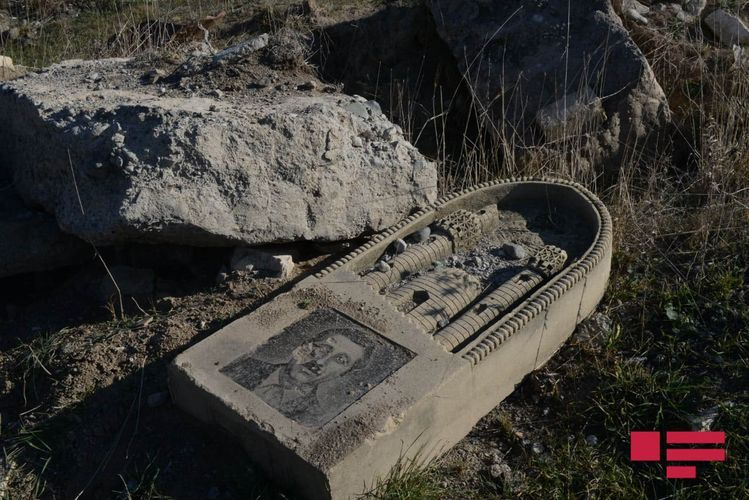 Armenians destroyed the cemetery in Kurdler village of Fizuli and planted grain in its place - VIDEO