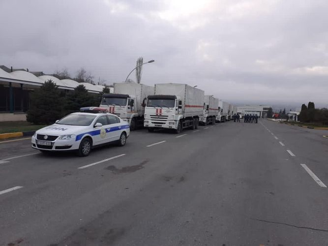 The Ministry of Emergency Situations accompanied the aid sent from Russia to Shusha and Khankendi - VIDEO