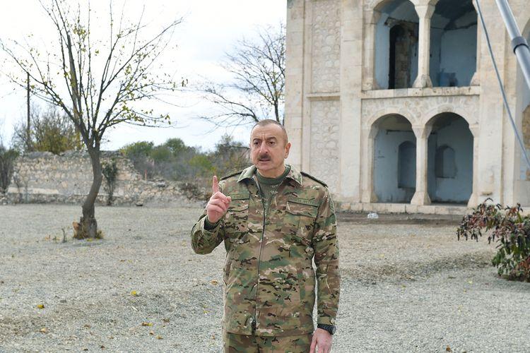 """Azərbaycan Prezidenti: """"Bizim işimizə qarışmaq istəyənin cavabını vermişik və verəcəyik"""""""