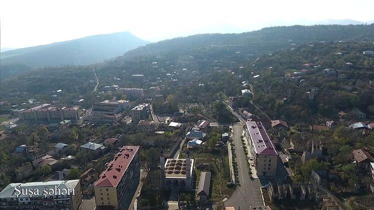 Şuşa şəhərinin havadan görüntüsü - VİDEO