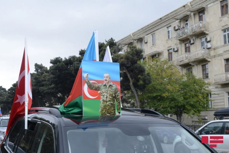 Auto rally held in Baku on the occasion of liberation of Kalbajar