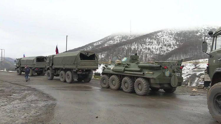 Russian peacekeepers arrive in Nagorno-Karabakh via Azerbaijan