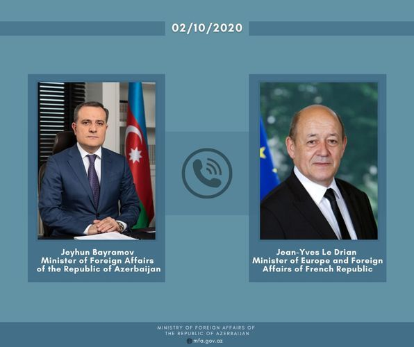Azerbaijani and French FMs hold phone conversation