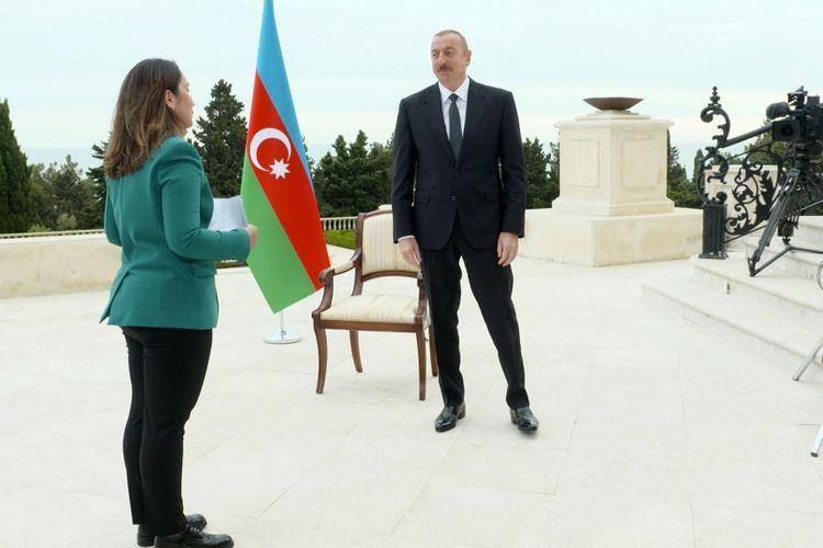 Azerbaijani President interviewed by Al Jazeera TV channel - <span class=
