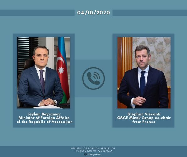 Telephone conversation held between Azerbaijani FM and French Co-Chair