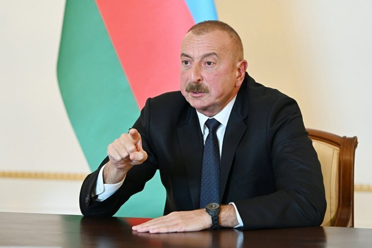 """President Ilham Aliyev: Pashinyan torpedoed the whole process of negotiations by saying that """"Karabakh is Armenia, full stop"""""""
