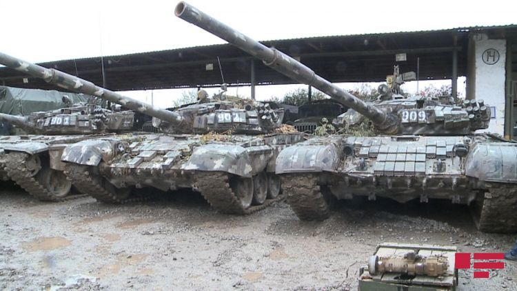 Part of military trophies taken by Azerbaijani Army from Armenians - <span class=
