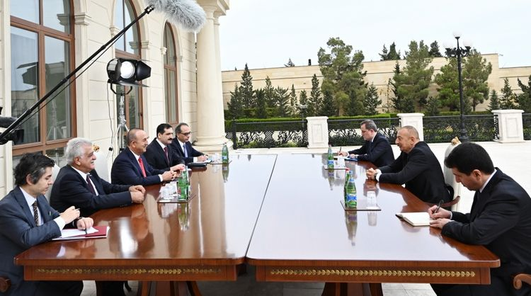 President Ilham Aliyev received delegation led by Turkish Foreign Minister - <span class='red_color'>UPDATED</span>