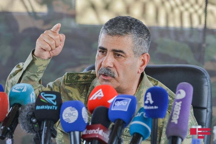 Azerbaijani  Defense Minister orders the Army to plan large-scale strikes on the enemy