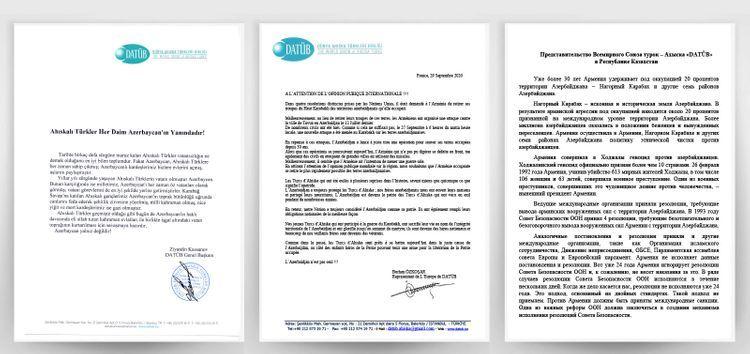 World Ahyska Turks Association disseminated statement condemning Armenia's aggressive policy