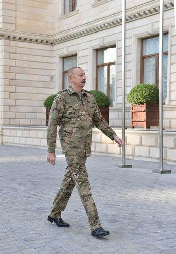 Operational meeting was held under the leadership of President, Commander-in-Chief Ilham Aliyev at Central Command Post of the Ministry of Defense