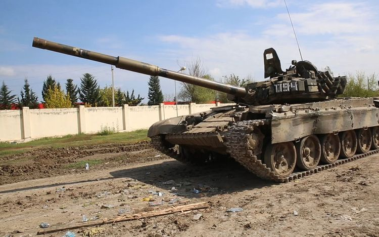 Azerbaijani MoD: Video recording  of military trophies seized from enemy  - <span class=